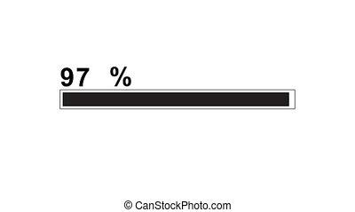 load, download, percent animation. - load, download percent...