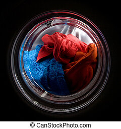 A colorful clothes wash