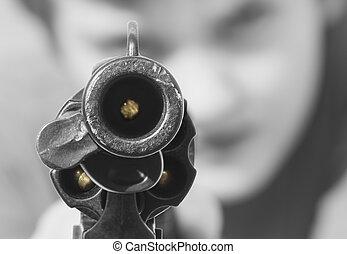 Loaded gun - Staring down a loaded gun