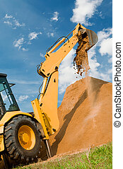 Loader excavation construction works