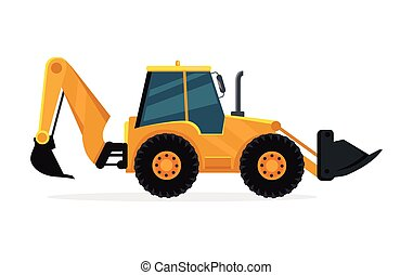 Loader Vector Illustration in Flat Design - Loader vector...