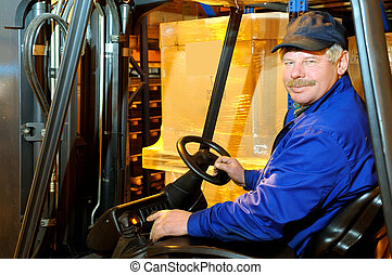 loader worker at warehouse
