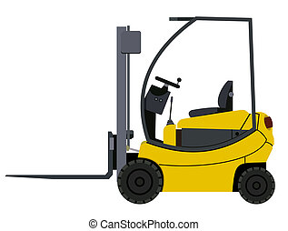 Loader - Yellow loader on a white background