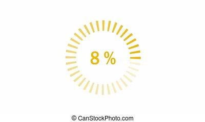 Loading Animation - 0-100% - Orange