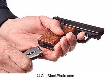 Loading a handgun