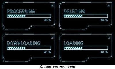 Loading and Deleting - Sci-Fi User Interface