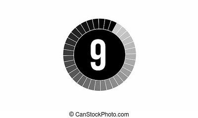Loading Animation - 10-0 - Black (and white background)