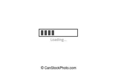 Loading bar. 4K animation footage clip