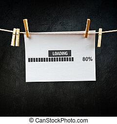 Loading bar conceptual image
