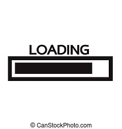 Loading bar icon Illustration design