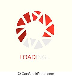 loading bar icon- vector illustration