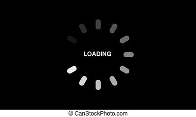 Loading circle animation - Loading circle icon on black...