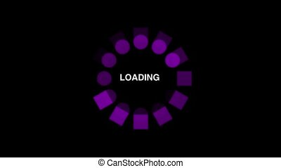 Loading circle animation - Loading circle icon on black...