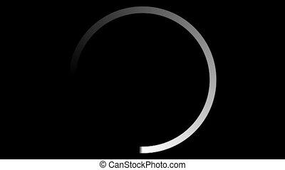 Loading Circle Gradient - A single gradient circle rotating...