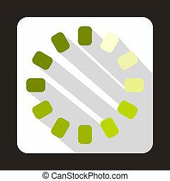 Loading circle icon, flat style