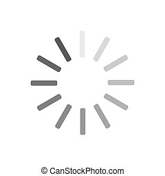 Loading circle icon. Progress loading vector icon. Update icon