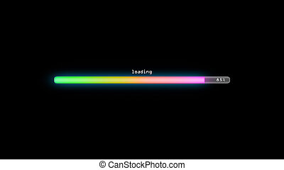 loading color gradient green dark background