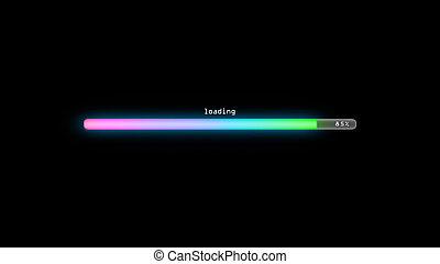 loading color gradient pink dark background