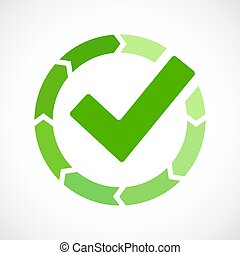 Loading completed vector icon