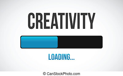 loading creative illustration design over a white background