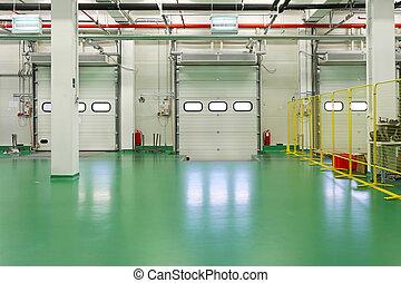 Loading dock interior