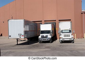 Loading Dock - Trucks at loading dock