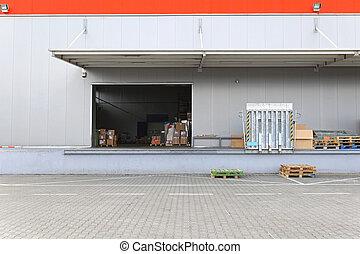 Loading dock warehouse