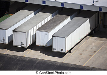 Loading docks and the trailers - Loading docks and the semi...
