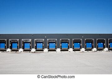 Loading docks - Front view of loading docks