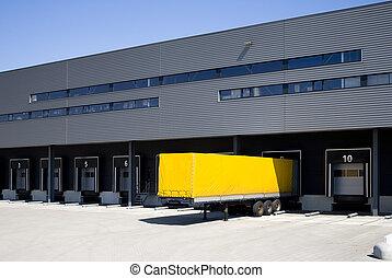 Loading docks - Loading bay for loading and unloading trucks