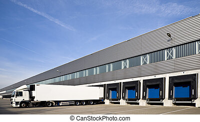Loading docks - Loading bay with numbers for loading and ...