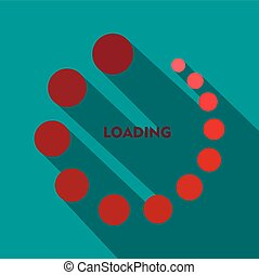 Loading icon in flat style