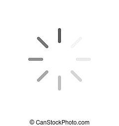Loading icon isolated on white background