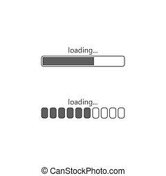 Loading icon, isolated on white background