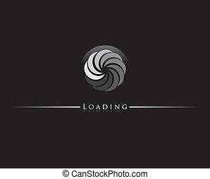 Round progress loading indicator. illustration.