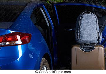 Loading luggage in modern car