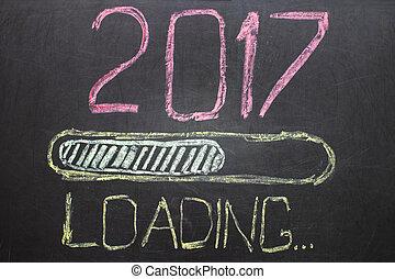 Loading New Year 2017 on Blackboard