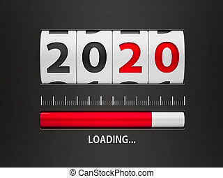 Loading New year 2020 counter
