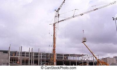 Loading of cargos using the crane