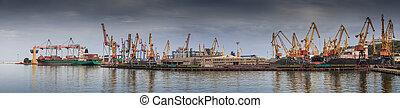 Loading of ships in port