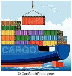 Loading on a container carrier