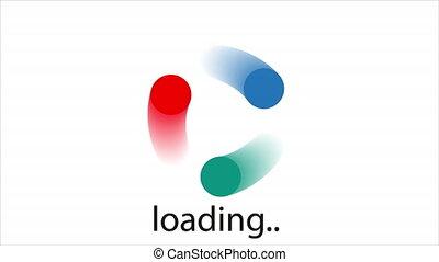 Loading points logo, art video illustration.