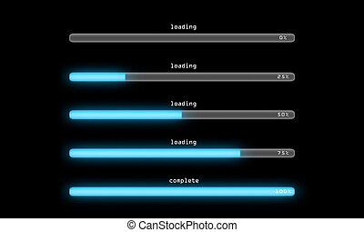 loading process dark - Loading bar