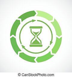 Loading process vector icon