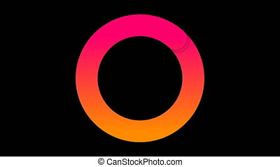 Loading, progress or buffering spinning icon on black...