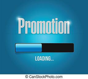 loading promotion bar illustration design