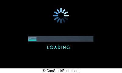 Loading Screen Bar Blue