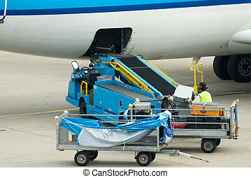loading suitcases