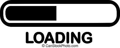 Loading symbol with bar