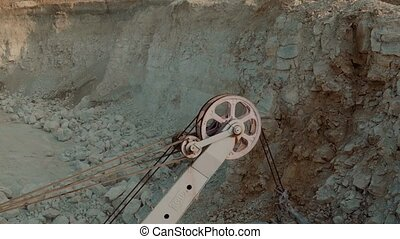 Loading the Ore Into Heavy Dump Truck at The Opencast Mining...